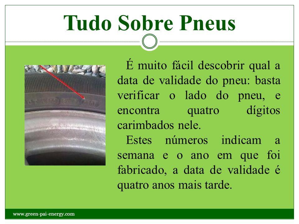 Tudo Sobre Pneus É muito fácil descobrir qual a data de validade do pneu: basta verificar o lado do pneu, e encontra quatro dígitos carimbados nele.