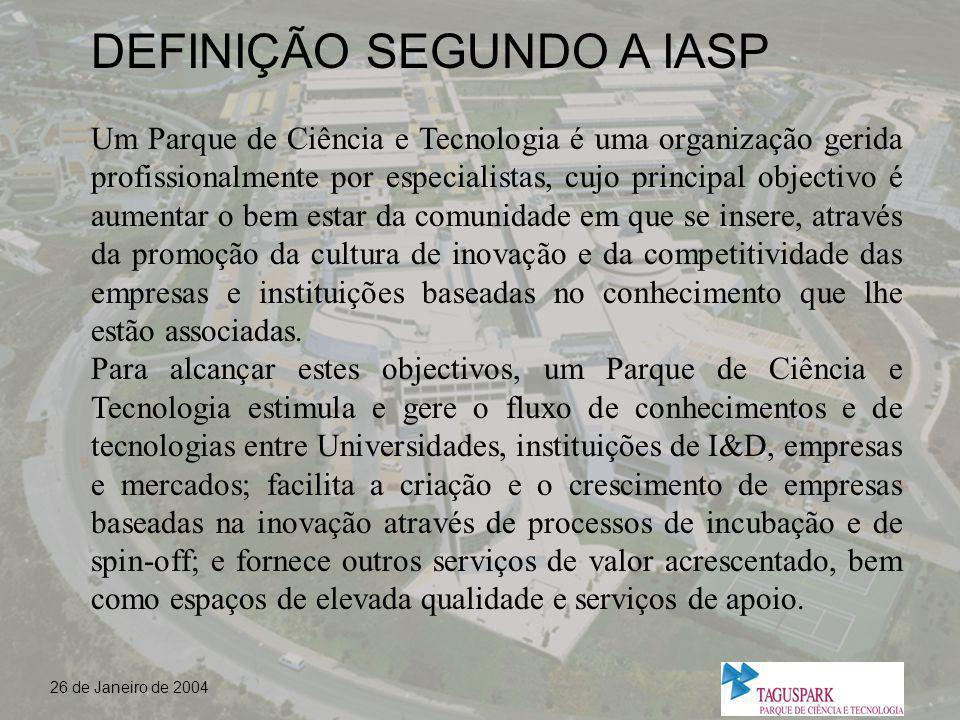 DEFINIÇÃO SEGUNDO A IASP
