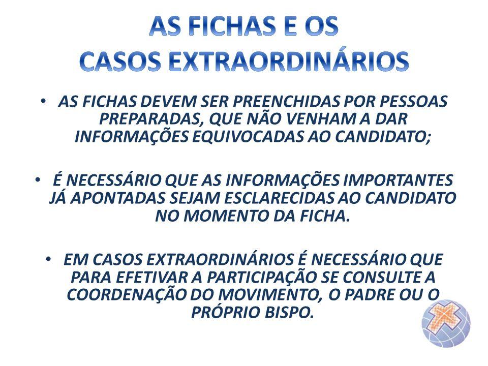 AS FICHAS E OS CASOS EXTRAORDINÁRIOS