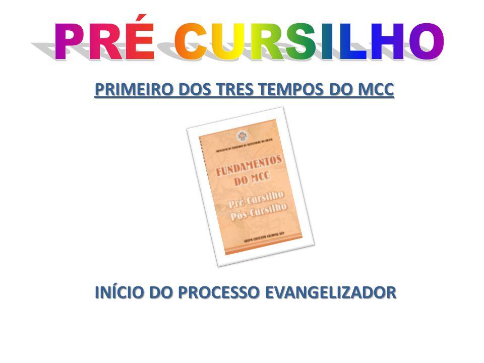 PRÉ CURSILHO PRIMEIRO DOS TRES TEMPOS DO MCC