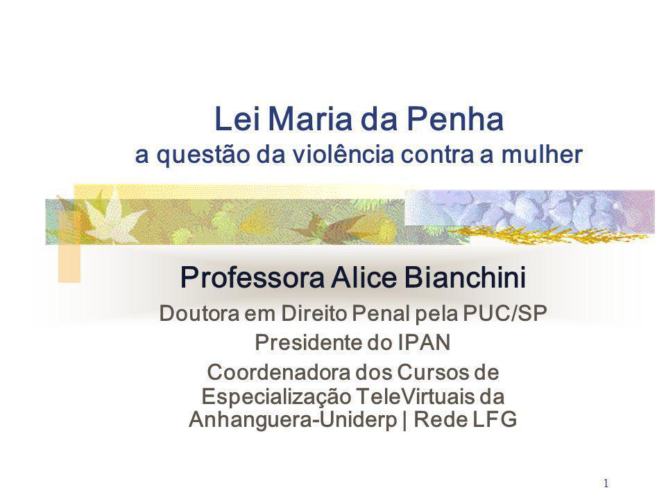 Lei Maria da Penha a questão da violência contra a mulher