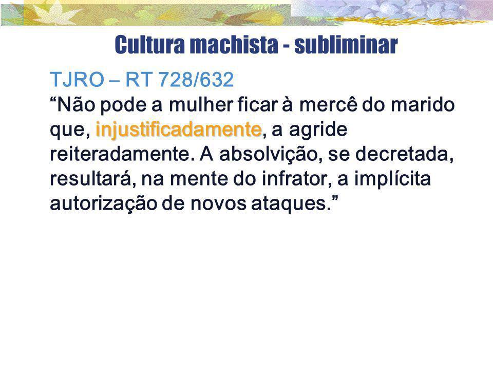 Cultura machista - subliminar