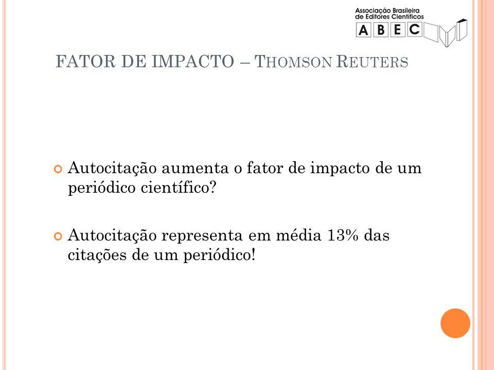FATOR DE IMPACTO – Thomson Reuters