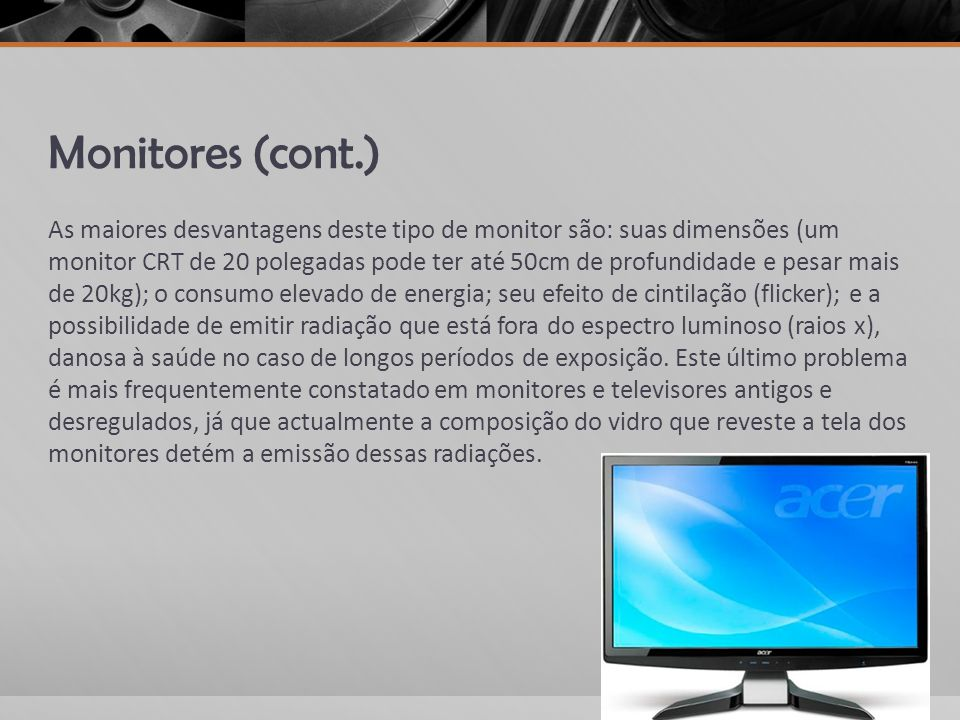 Monitores (cont.)
