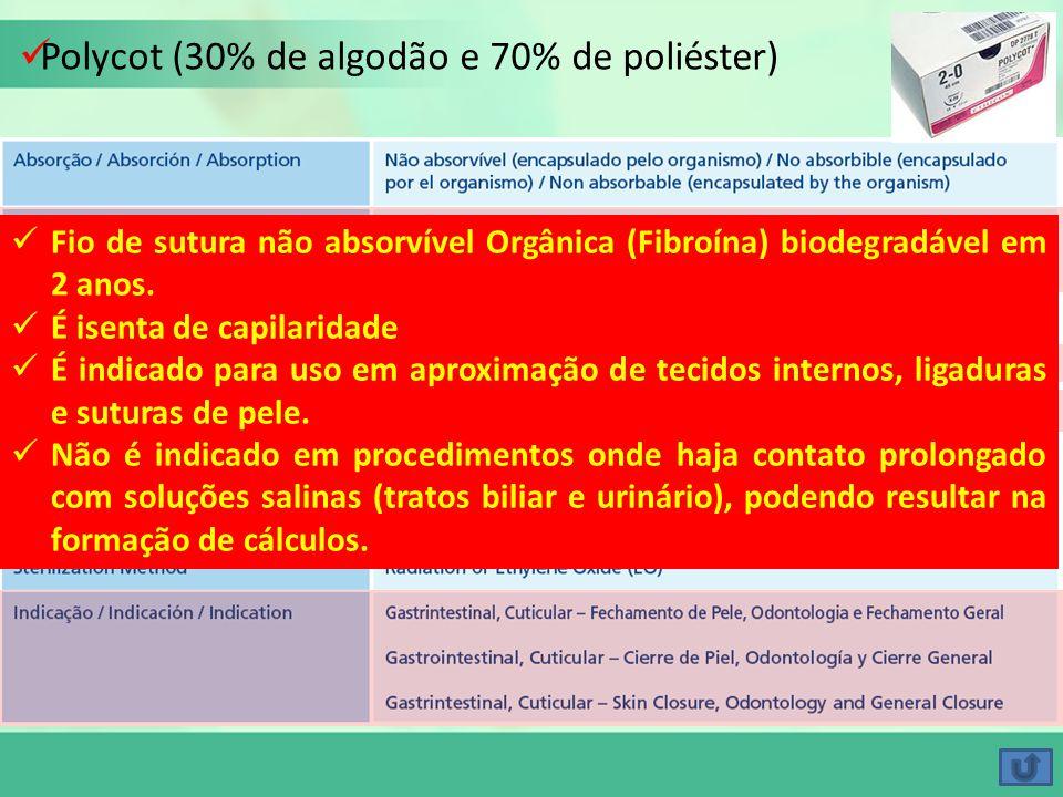 Polycot (30% de algodão e 70% de poliéster)