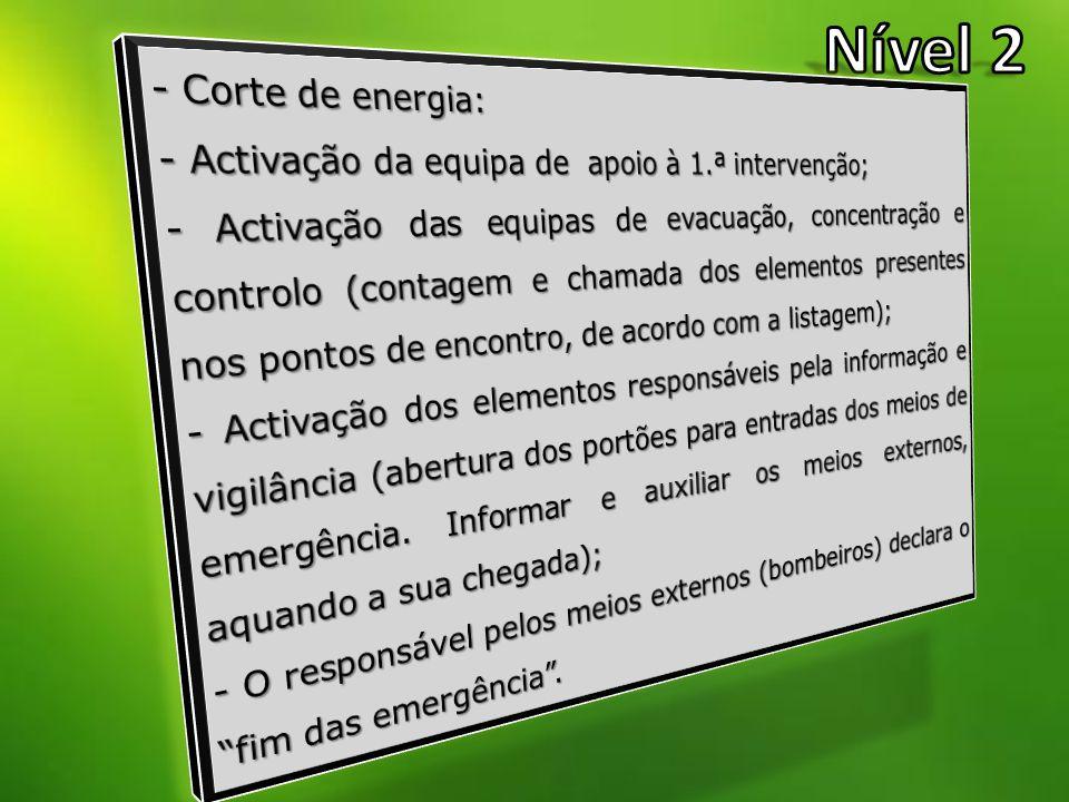 Nível 2 - Corte de energia: