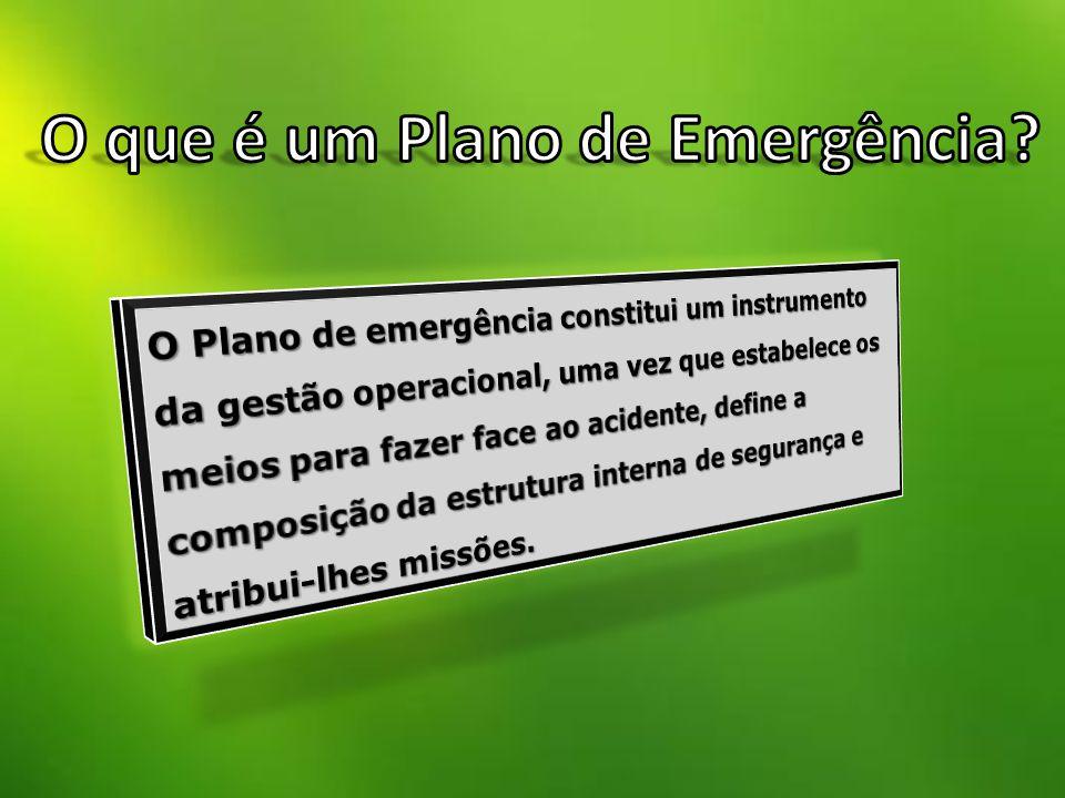 O que é um Plano de Emergência