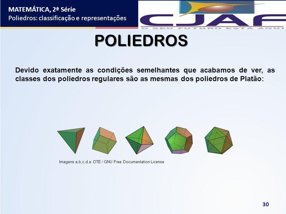 POLIEDROS MATEMÁTICA, 2ª Série