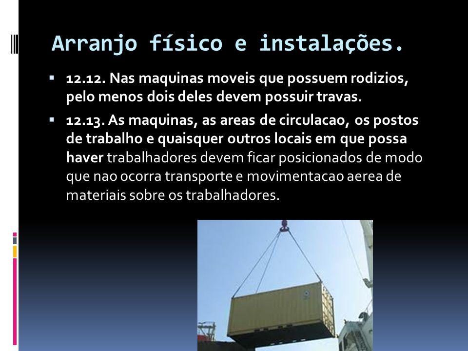 Arranjo físico e instalações.