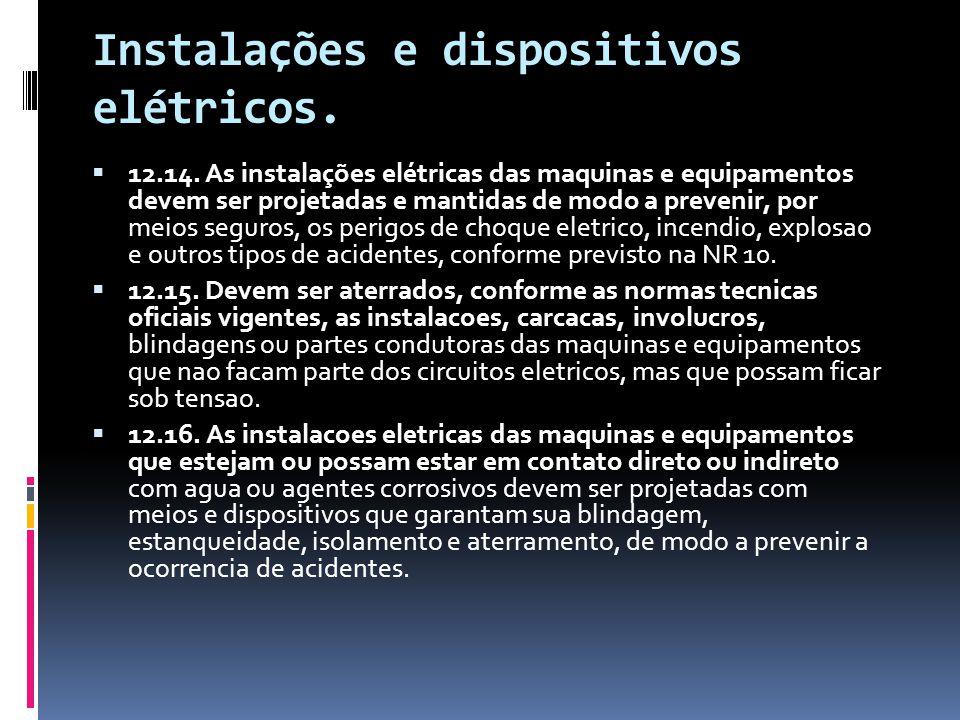 Instalações e dispositivos elétricos.