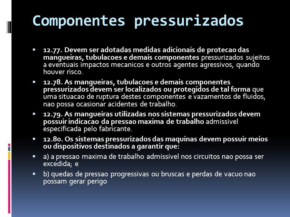 Componentes pressurizados