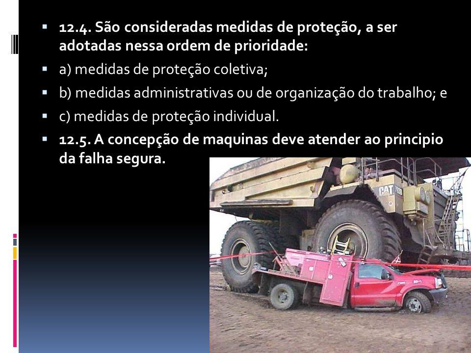 12.4. São consideradas medidas de proteção, a ser adotadas nessa ordem de prioridade: