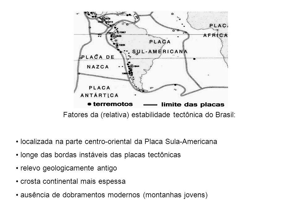 Fatores da (relativa) estabilidade tectônica do Brasil: