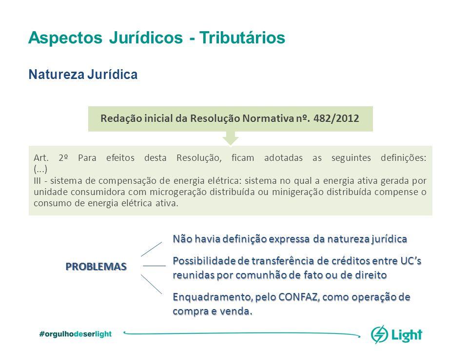 Redação inicial da Resolução Normativa nº. 482/2012