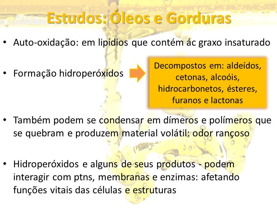 Estudos: Óleos e Gorduras