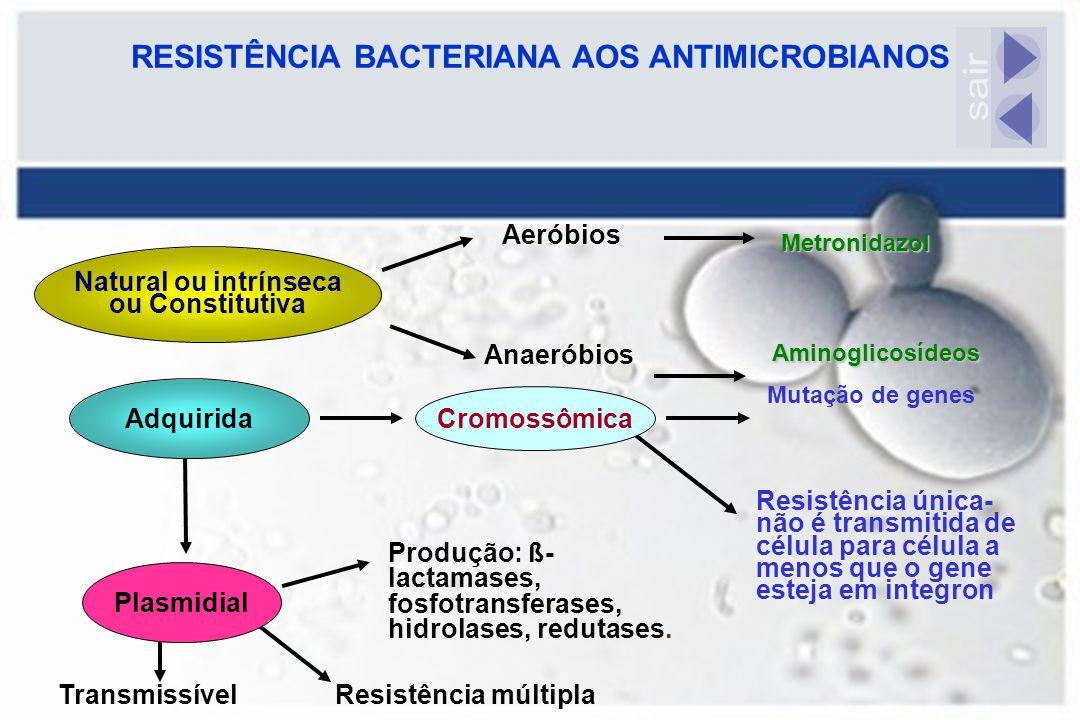 RESISTÊNCIA BACTERIANA AOS ANTIMICROBIANOS