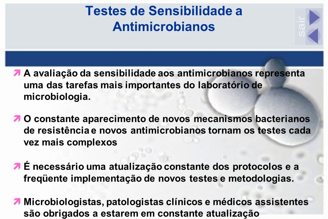 Testes de Sensibilidade a Antimicrobianos