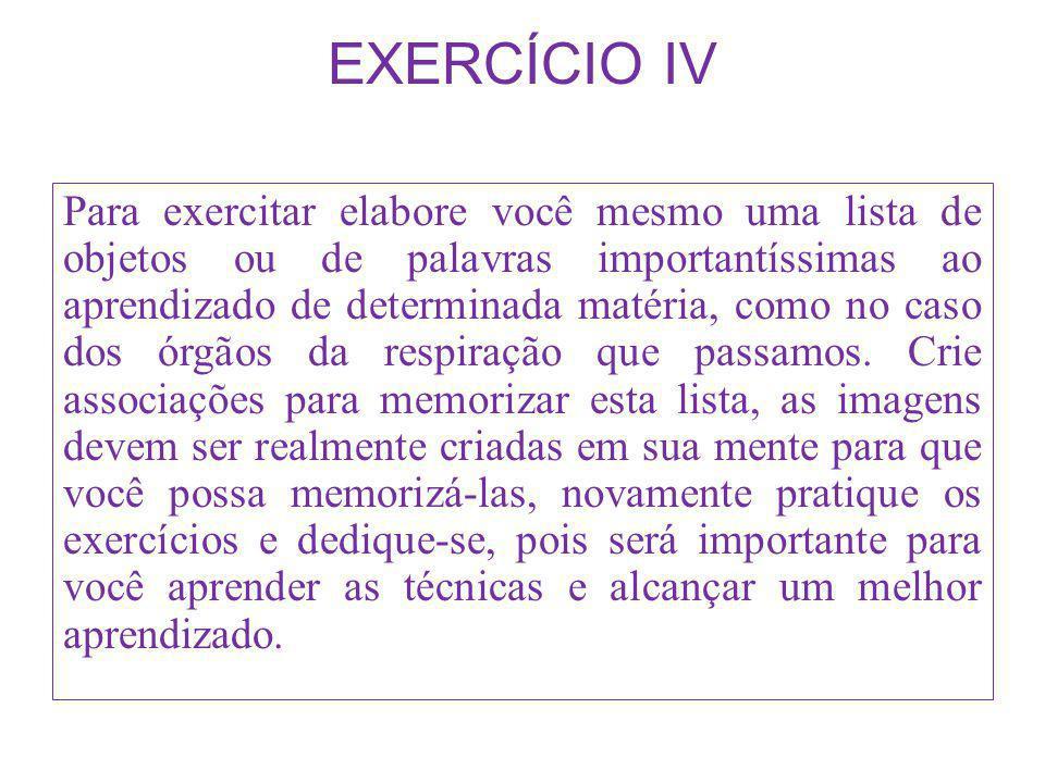 EXERCÍCIO IV