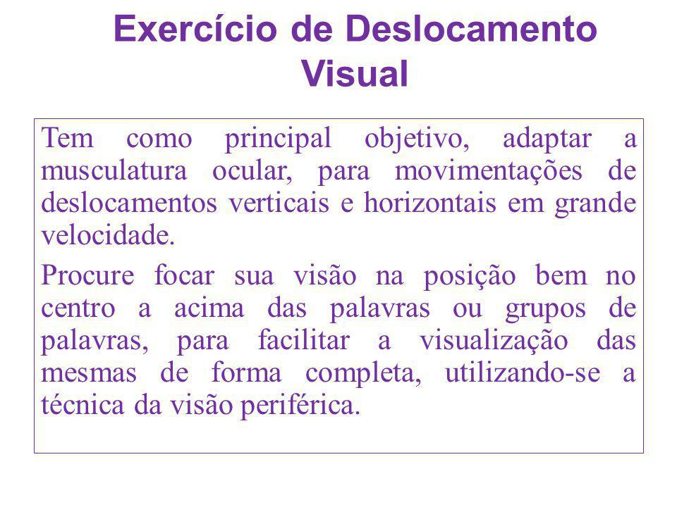 Exercício de Deslocamento Visual