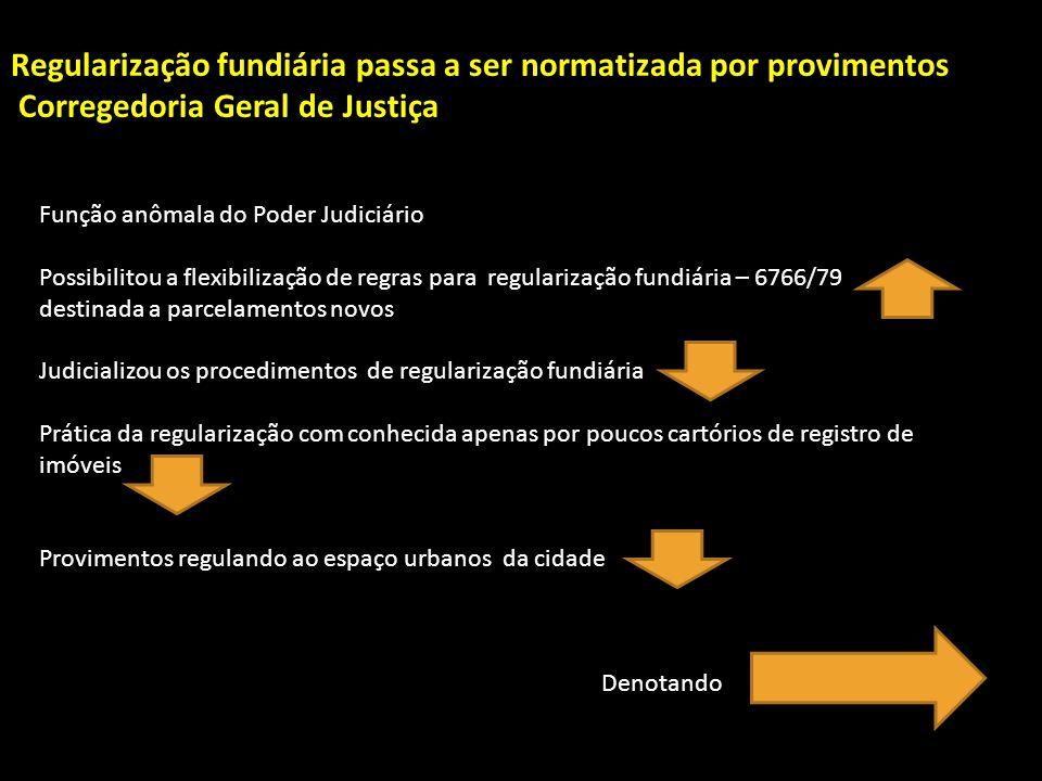 Regularização fundiária passa a ser normatizada por provimentos