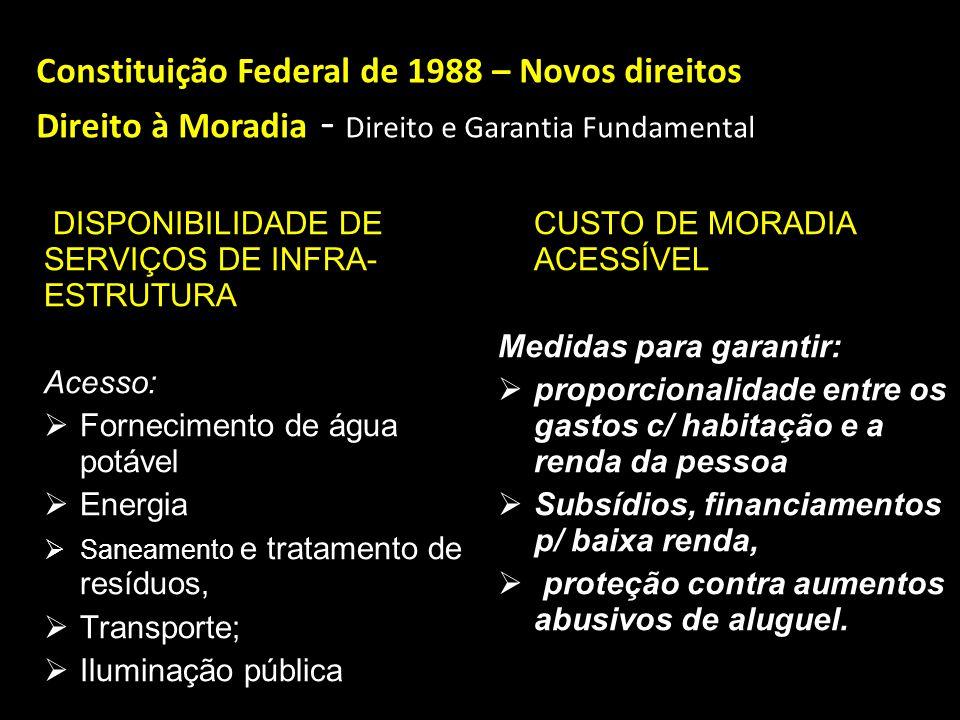 Constituição Federal de 1988 – Novos direitos