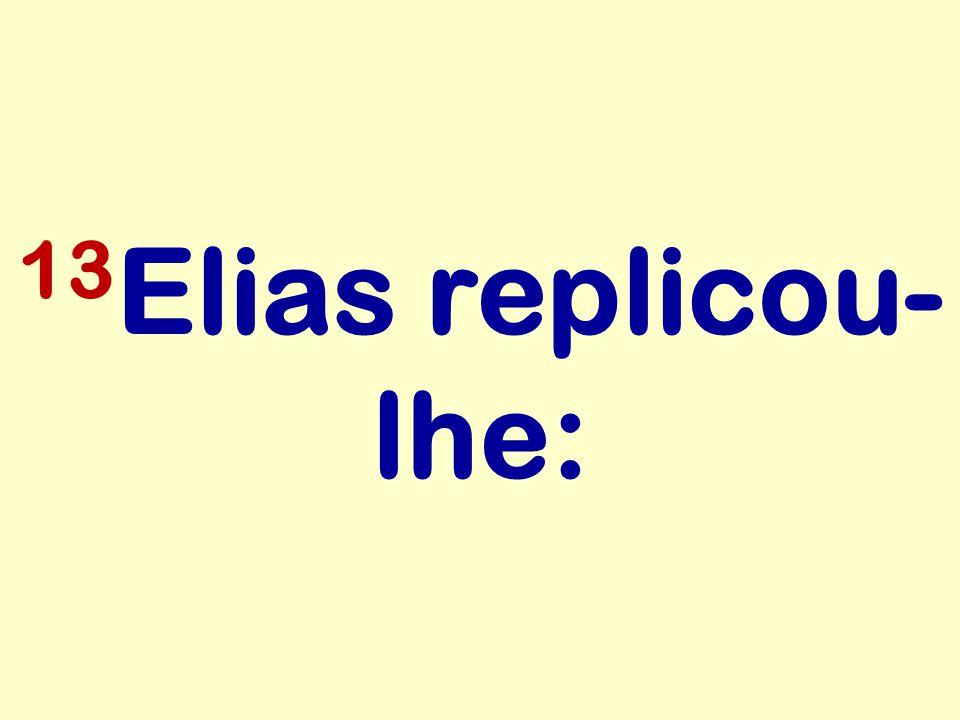13Elias replicou-lhe: