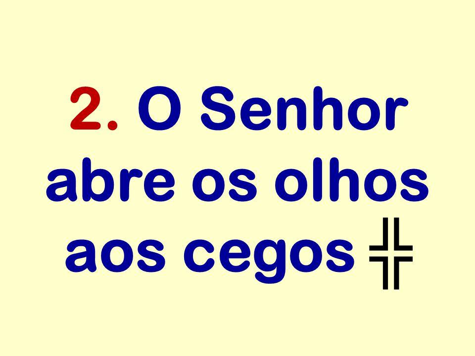 2. O Senhor abre os olhos aos cegos ╬