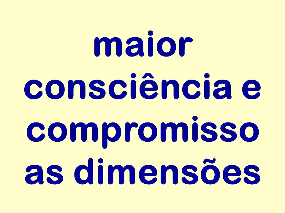 maior consciência e compromisso as dimensões