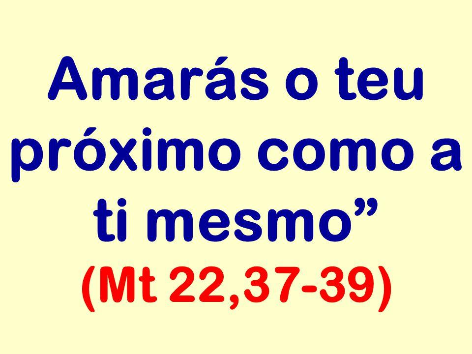 Amarás o teu próximo como a ti mesmo (Mt 22,37-39)