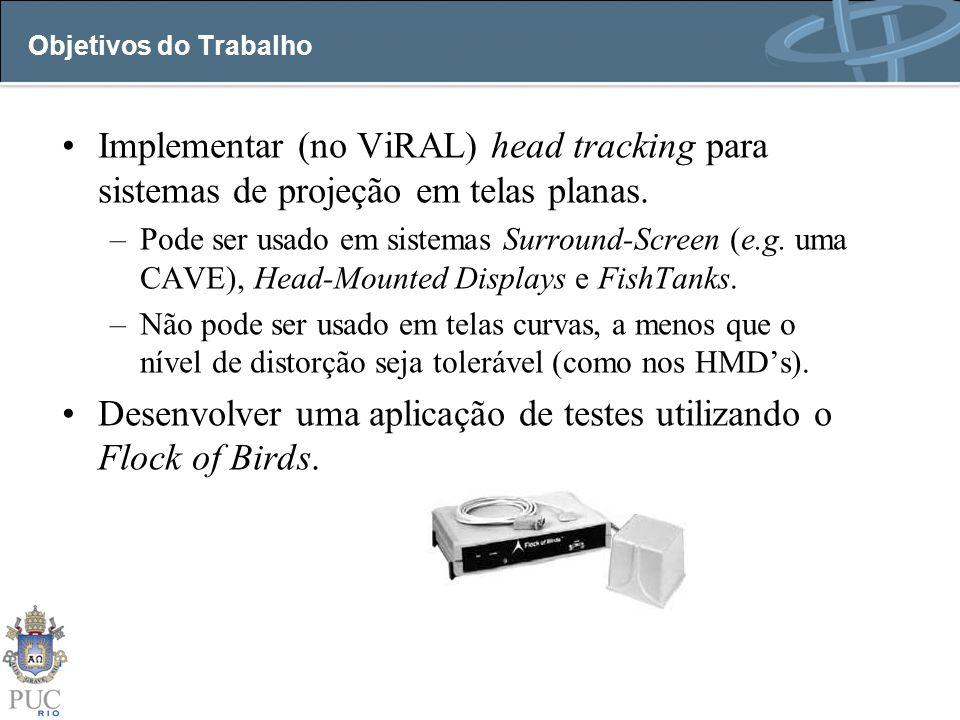 Desenvolver uma aplicação de testes utilizando o Flock of Birds.