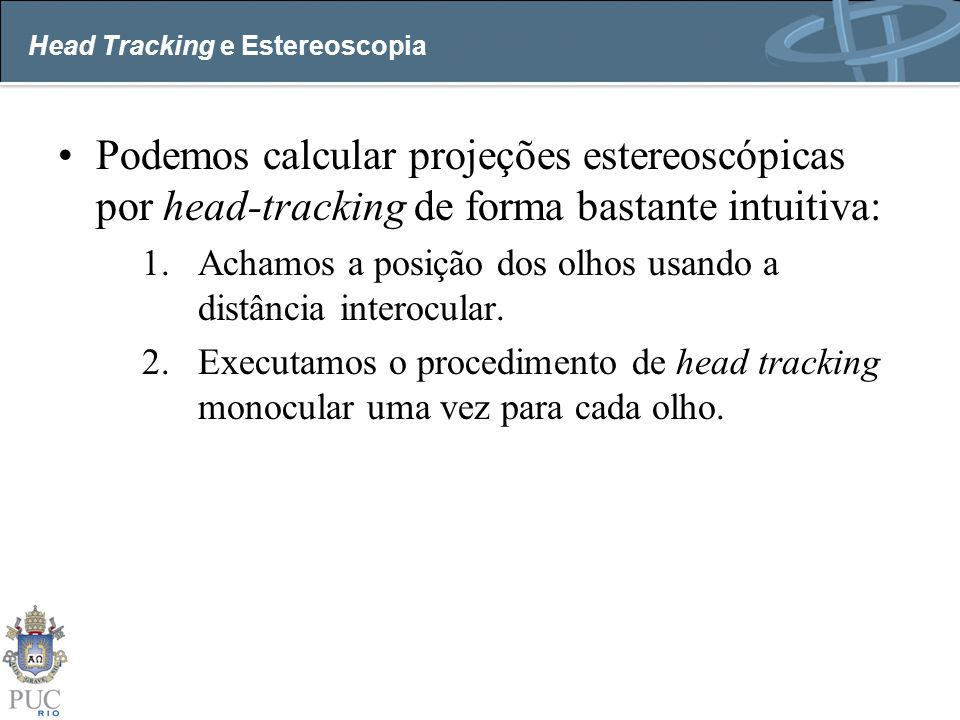 Head Tracking e Estereoscopia