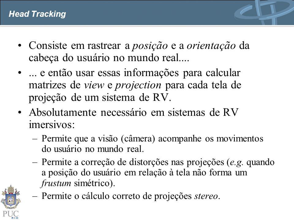 Absolutamente necessário em sistemas de RV imersivos: