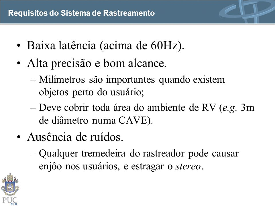 Requisitos do Sistema de Rastreamento