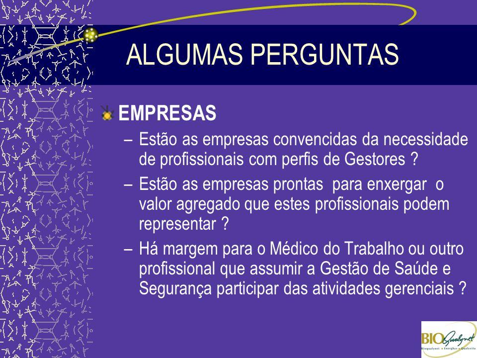 ALGUMAS PERGUNTAS EMPRESAS