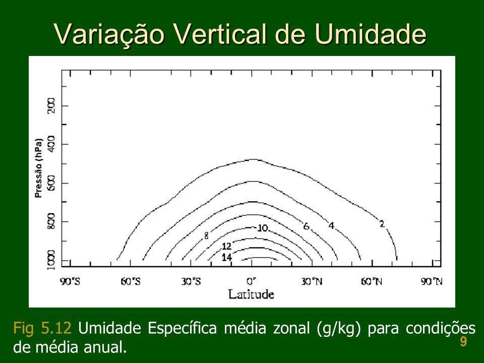 Variação Vertical de Umidade