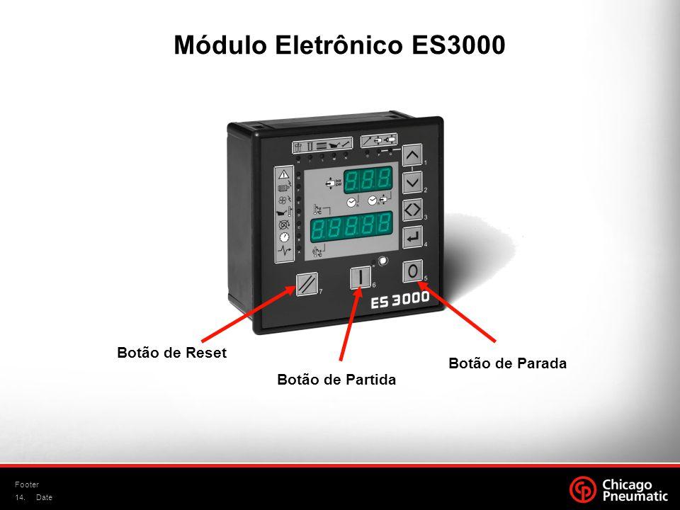 Módulo Eletrônico ES3000 Botão de Reset Botão de Parada