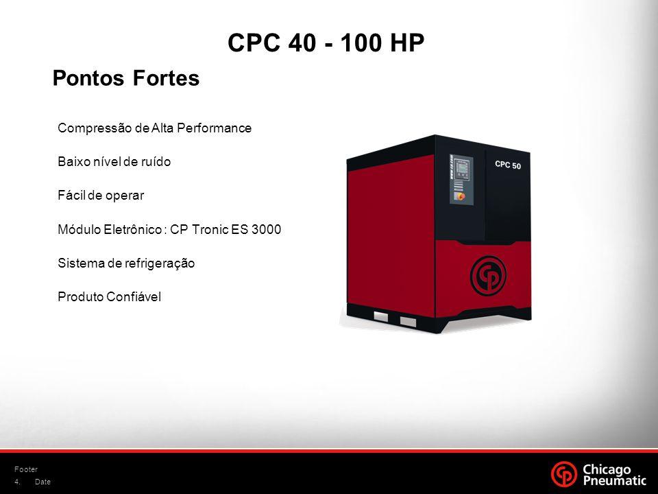 CPC 40 - 100 HP Pontos Fortes Compressão de Alta Performance