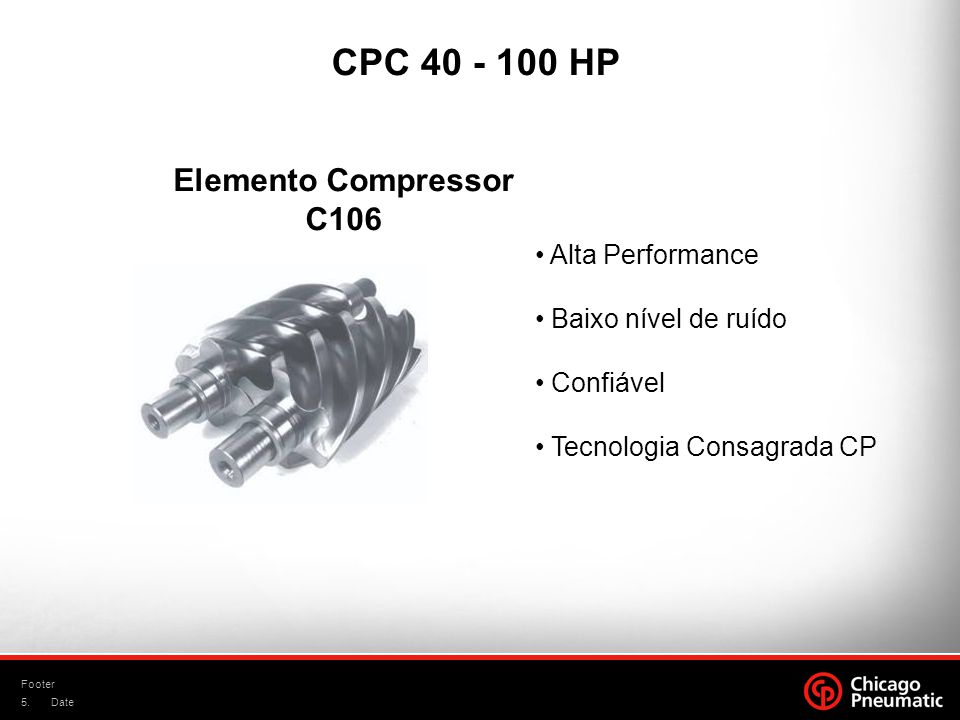 CPC 40 - 100 HP Elemento Compressor C106 Alta Performance