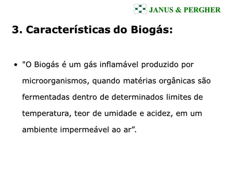 3. Características do Biogás: