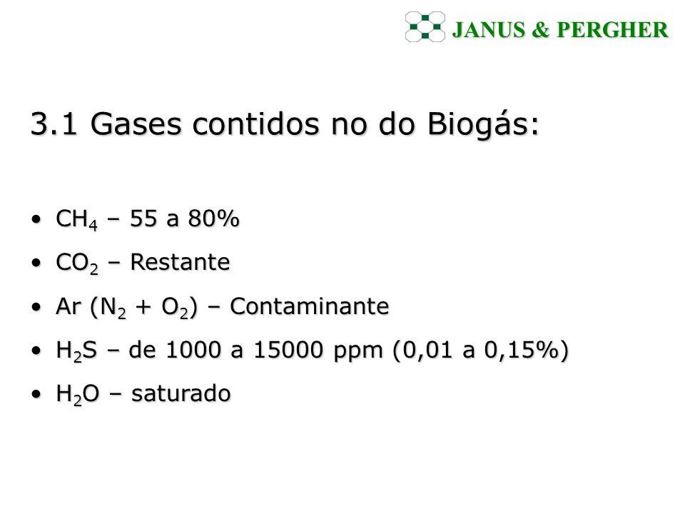 3.1 Gases contidos no do Biogás: