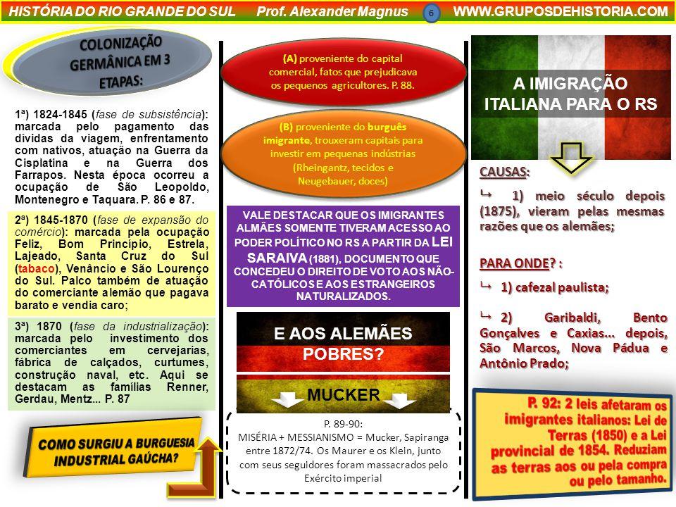 COLONIZAÇÃO GERMÂNICA EM 3 ETAPAS: A IMIGRAÇÃO ITALIANA PARA O RS