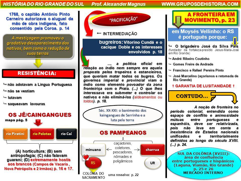 INTERMEDIAÇÃO PACIFICAÇÃO OS JÊ/CAINGANGUES OS PAMPEANOS