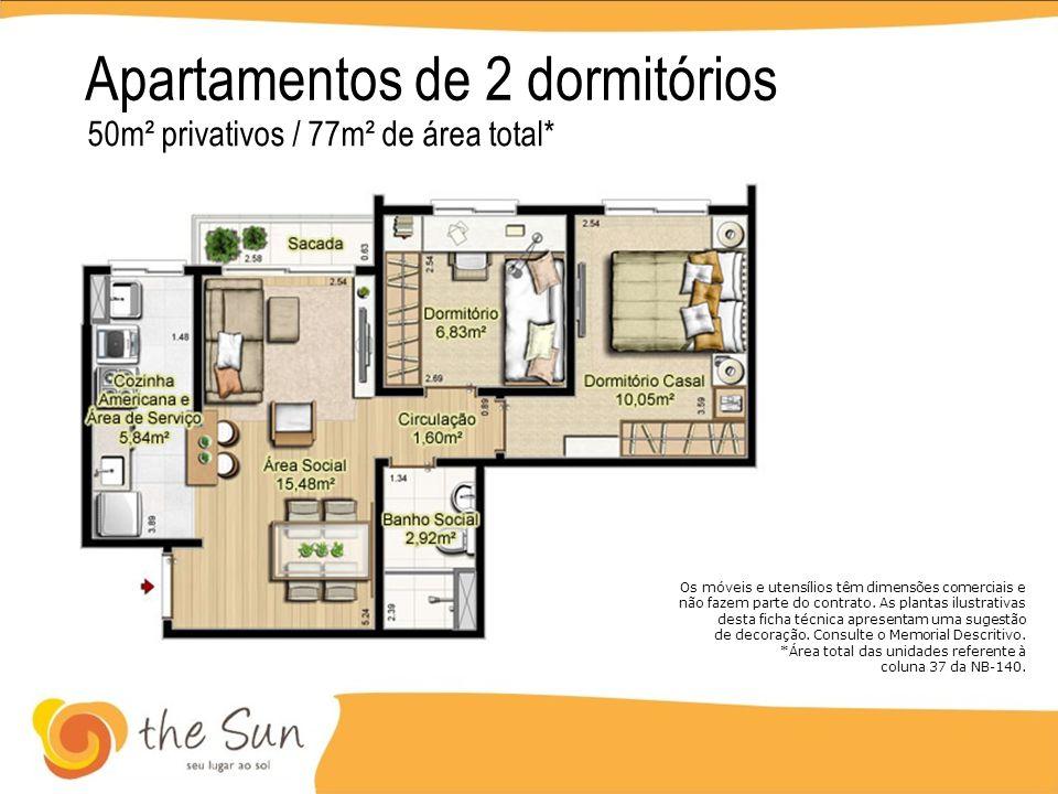 Apartamentos de 2 dormitórios