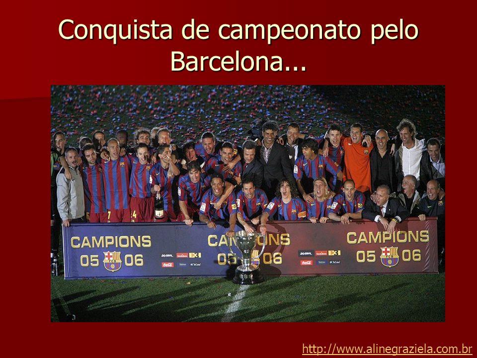 Conquista de campeonato pelo Barcelona...