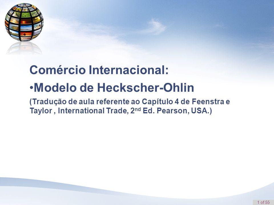 Comércio Internacional: Modelo de Heckscher-Ohlin