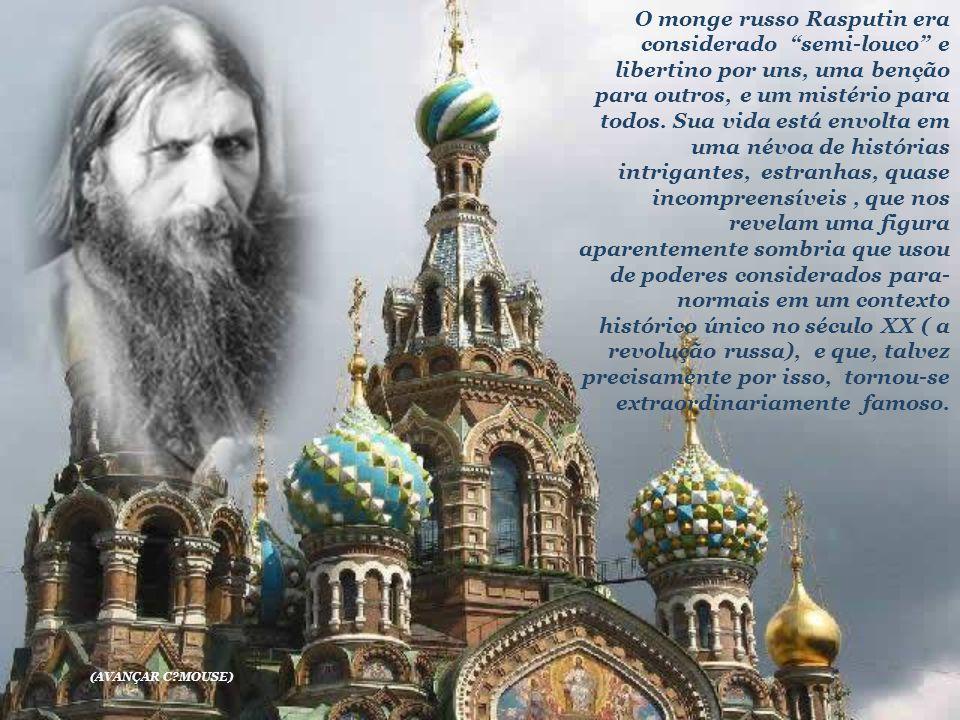 O monge russo Rasputin era considerado semi-louco e libertino por uns, uma benção para outros, e um mistério para todos. Sua vida está envolta em uma névoa de histórias intrigantes, estranhas, quase incompreensíveis , que nos revelam uma figura aparentemente sombria que usou de poderes considerados para-normais em um contexto histórico único no século XX ( a revolução russa), e que, talvez precisamente por isso, tornou-se extraordinariamente famoso.