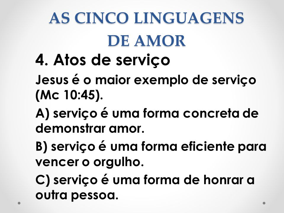 AS CINCO LINGUAGENS DE AMOR