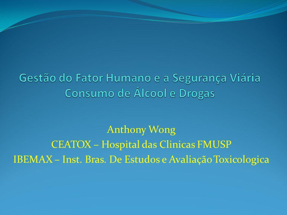 Gestão do Fator Humano e a Segurança Viária Consumo de Álcool e Drogas