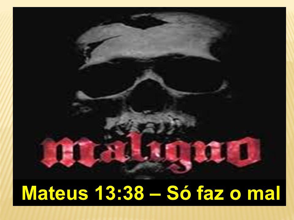 Mateus 13:38 – Só faz o mal