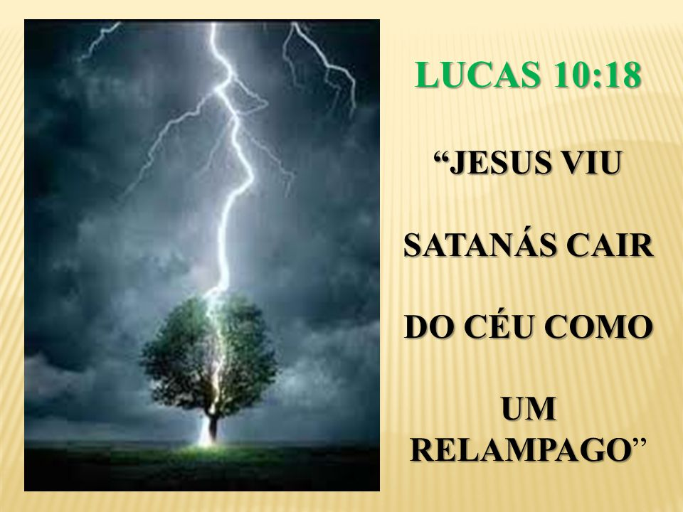 LUCAS 10:18 JESUS VIU SATANÁS CAIR DO CÉU COMO UM RELAMPAGO